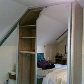 Dormer Mirror Sliding Wardrobe