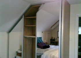 Dormer Mirror Sliding Wardrobe