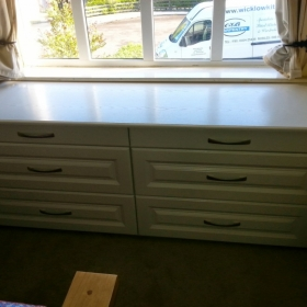 Drawer and Seat in Bay Window