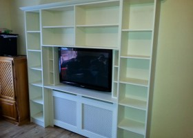 Entertainment Cabinet with Built in Radiator Cover