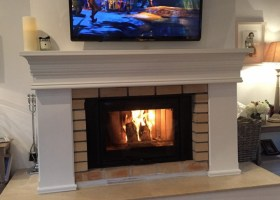 Fireplace Surround Painted White