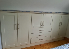 Ivory Shaker with Drawers Dormer Wardrobe
