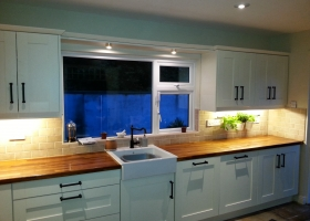 Ivory Shaker with Solid Walnut Worktop