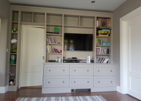 TV Cabinet Hand Painted in a Cashmere colour