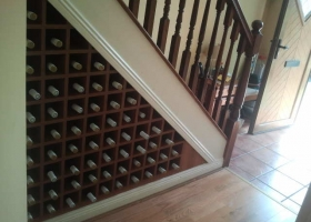 Wine Rack Fitted Under Stairs